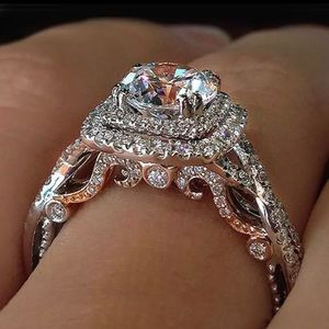 Vintage Inspired Sterling Silver Art Nouveau Style Engagement Ring Size 7